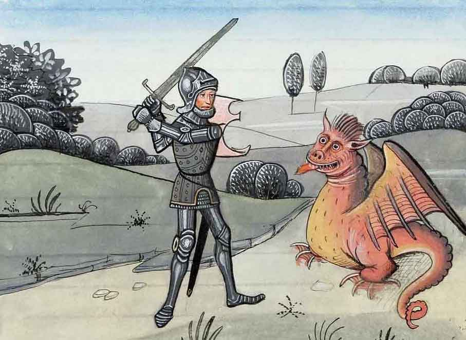 Knight in shining armour dissed by a dragon